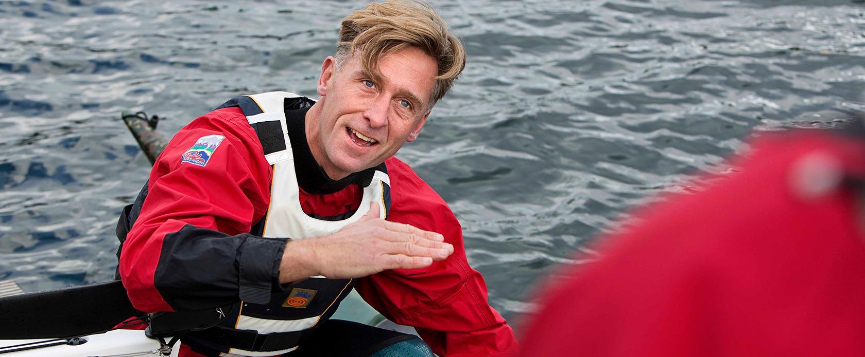 Peter Frøge i kajak